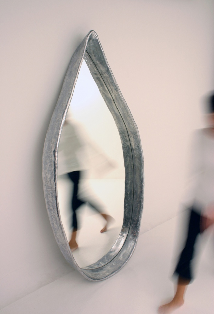 Pinaree Sanpitak, The Mirror, 2009. Aluminum and mirrored glass, edition 2/6, 7 x 76 x 371⁄2 inches (17.8 x 193 x 95.3 cm). Gift of Frances P. Rollins in honor of Kimerly Rorschach, 2012.16.2. Image supplied by Tyler Rollins Fine Art, New York, NY. © Pinaree Sanpitak.